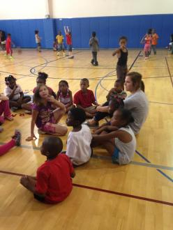 Abby volunteering at the Boy and Girls Club!